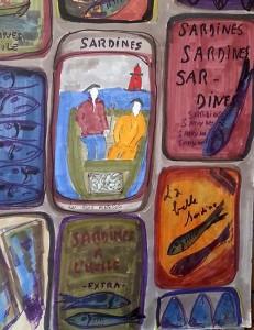 croquis sardine
