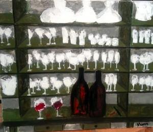 verres sur étagère